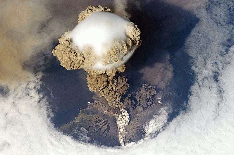 Ударна хвиля при вибуху вулкана